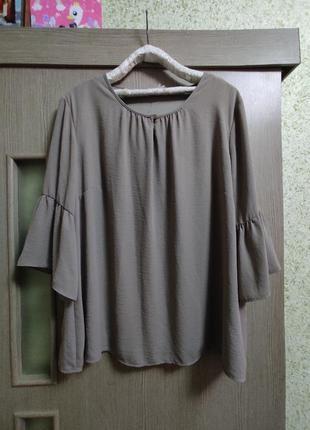 Блузка с красивыми рукавами,батал 56-60р