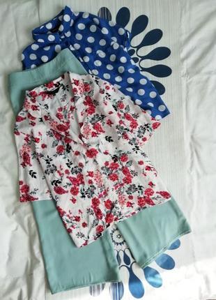 Белая рубашка в цветочный принт сорочка блуза топ белый біла квітковий білий пижамном