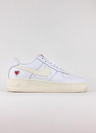 Кроссовки nike air force low white love