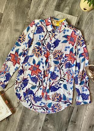 Блузка яркий принт 💫блуза рубашка