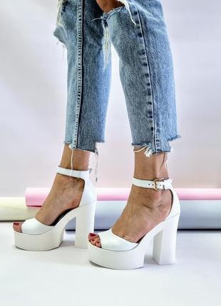 Туфли босоножки р36-40 на высоком каблуке свадебные босоніжки туфлі на високих підборах весільні5 фото