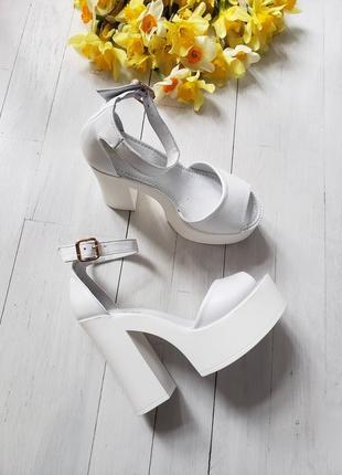 Туфли босоножки р36-40 на высоком каблуке свадебные босоніжки туфлі на високих підборах весільні