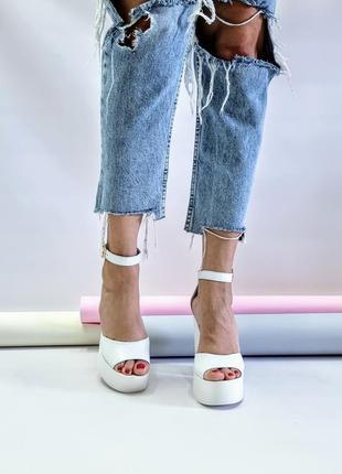Туфли босоножки р36-40 на высоком каблуке свадебные босоніжки туфлі на високих підборах весільні7 фото