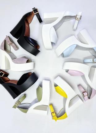 Туфли босоножки р36-40 на высоком каблуке свадебные босоніжки туфлі на високих підборах весільні4 фото