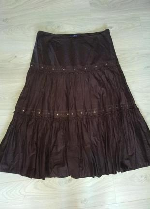 Длинная юбка батист