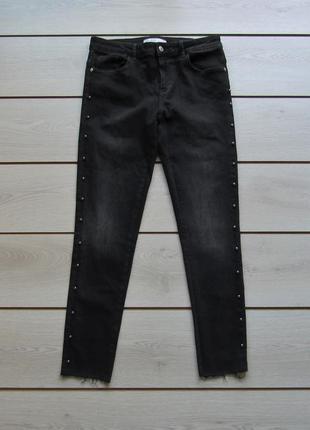 Зауженные джинсы с металлическими бусами от zara®