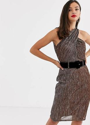 Платье люрекс бронза2 фото