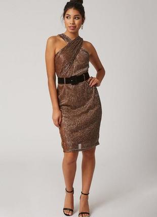 Платье люрекс бронза4 фото