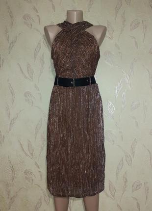 Платье люрекс бронза5 фото