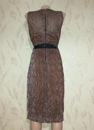 Платье люрекс бронза6 фото