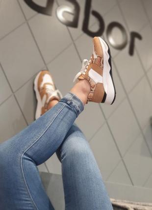 Gabor - шикарные женские кожаные кроссовки сникерсы  38,5, 39, 40