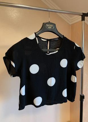 Топ жіночий/ топ женский/ футболка женская/ топ в горошек