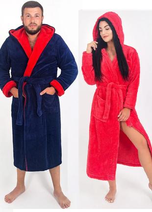 2шт - парные халаты , махровые (мужской и женский )