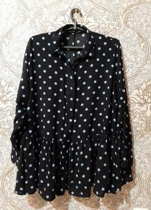 Натуральная, воздушная блуза, рубашка, туника оверсайз
