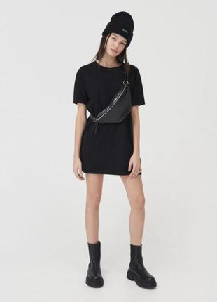Прямая футболка oversize туника платье