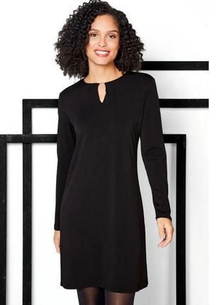 Платье женское классика длинный рукав черное esmara германия р. 44-46