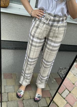Новые брюки штаны из льна mango штани з льону