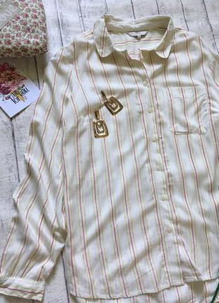 Молочная рубашка с метализированной нитью