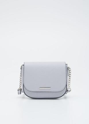 Милая серая сумочка на цепочке