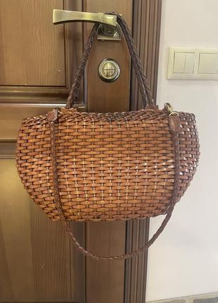 Итальянская мега крутая кожаная сумка