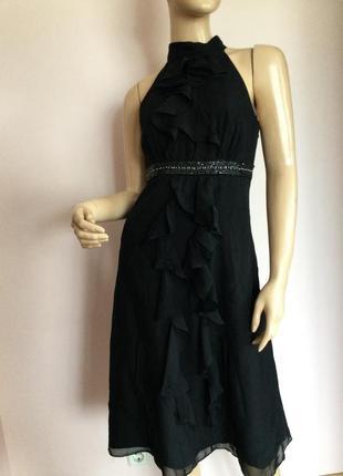 Бомбезное шелковое фирменное платье от monsoon/s/