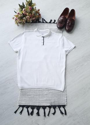 Белая футболка поло біла футболка поло l біле поло