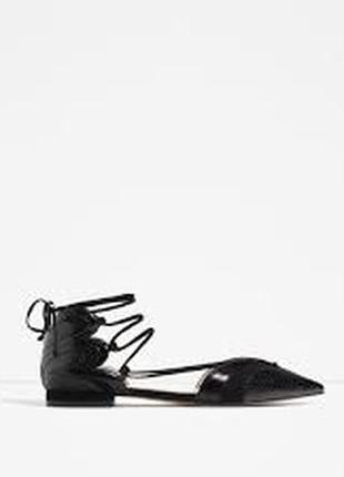 Открытые туфли zara