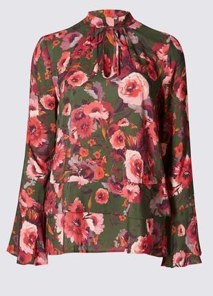 Красивая блуза в цветочный принт от m&s