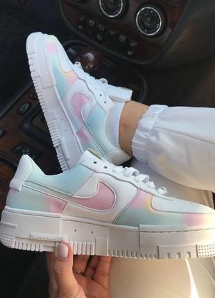 Кроссовки найк женские nike pixel rainbow обувь взуття кеды пиксель