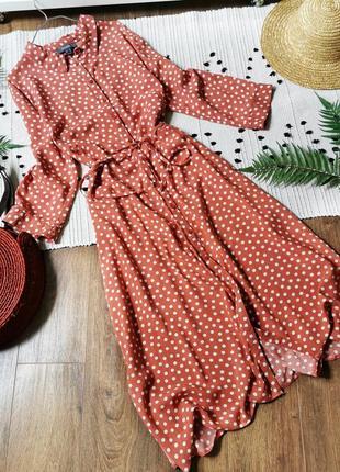Сукня міді в горошок великого розміру primark платье миди в горошек большой размер