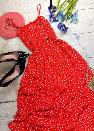 Ніжна сукня максі в горошок (100% віскоза)