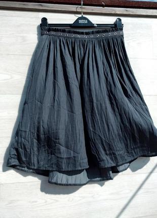 Красивая стильная миди юбка серо голубого цвета esprit