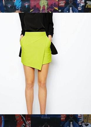 Юбка шорты юбка-шорты лаймовая