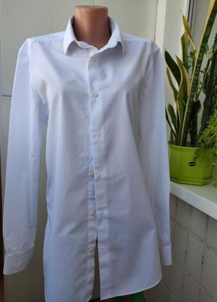 Рубашка блузка , туника, белая,
