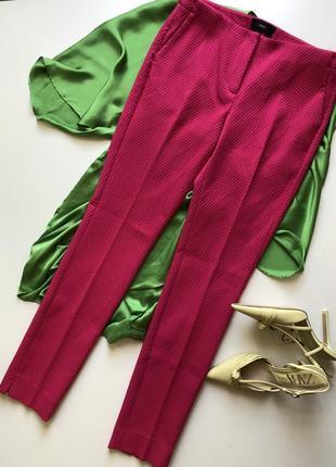 Шикарные ярко-розовые цвета фуксии брюки фасон cigarette английского бренда next.
