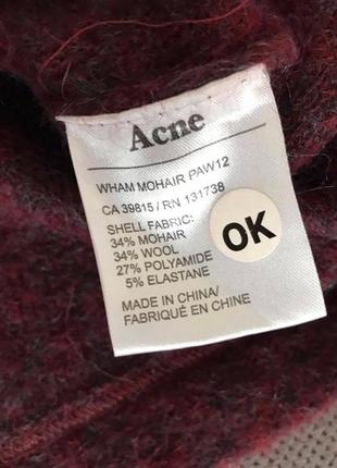 Acne стильный роскошный хейворд мохер шерсть свитер  (cos akris sandro zara h&m max mara)5 фото