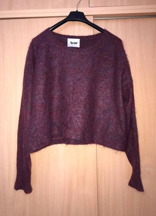 Acne стильный роскошный хейворд мохер шерсть свитер  (cos akris sandro zara h&m max mara)1 фото