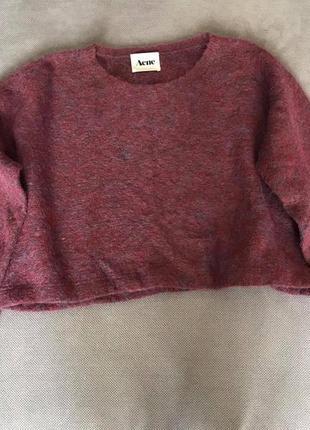 Acne стильный роскошный хейворд мохер шерсть свитер  (cos akris sandro zara h&m max mara)3 фото