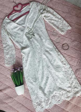 Платье белое кружевное revd'elle paris франция 🇫🇷