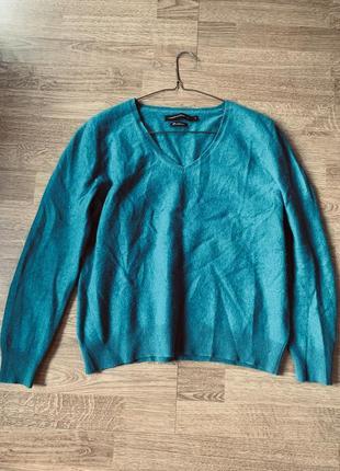 100% кашемир кашемировый изумрудный свитерок дорогого бренда
