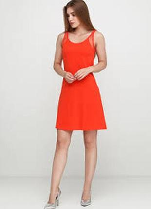 Летнее женское платье ярко красного цвета (размеры m, l)