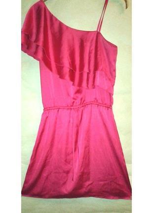 Платье на одно плечо коктейльное на выпускной вечернее, платье короткое бренд incity