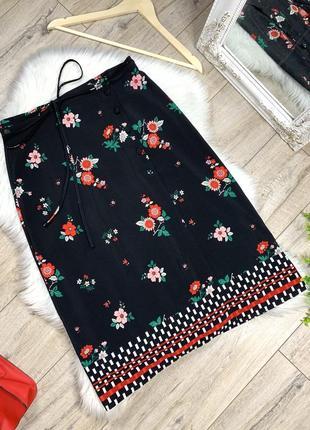Легкая юбка на пуговицах