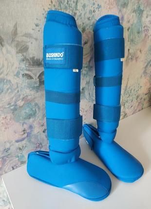 Защита на ноги для каратэ,ноги и стопа bushindo размер л ,175-185 рост