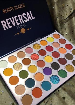 🌈✨ профессиональная палетка теней для век beauty glazed reversal planet eyeshadow palette (40 color)