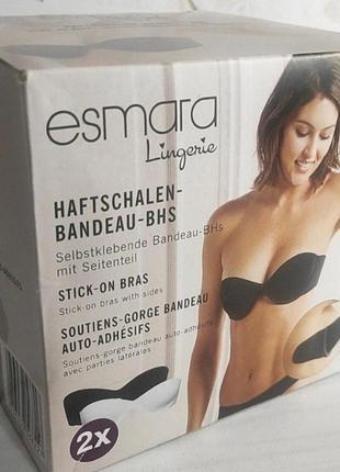 Бюстгальтеры stick-on bra от немецкого бренда esmara (2шт) размер b, c
