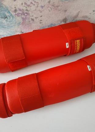 Защита на ноги для каратэ ,ноги и стопа ,bushindo размер l 175-185