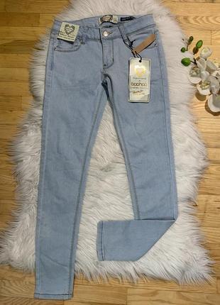 Новые джинсы скини s, xs, светло-голубые джинсы, джинсы голубые