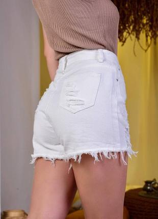 Шорты джинс с высокой посадкой