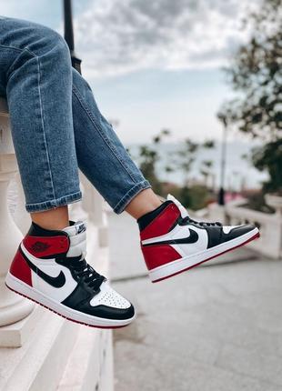 Jordan retro red высокие кроссовки